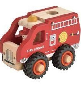 Toyslink Wooden Vehicle - Fire Engine