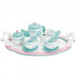 Toyslink Wooden Heart Tea Tray Set