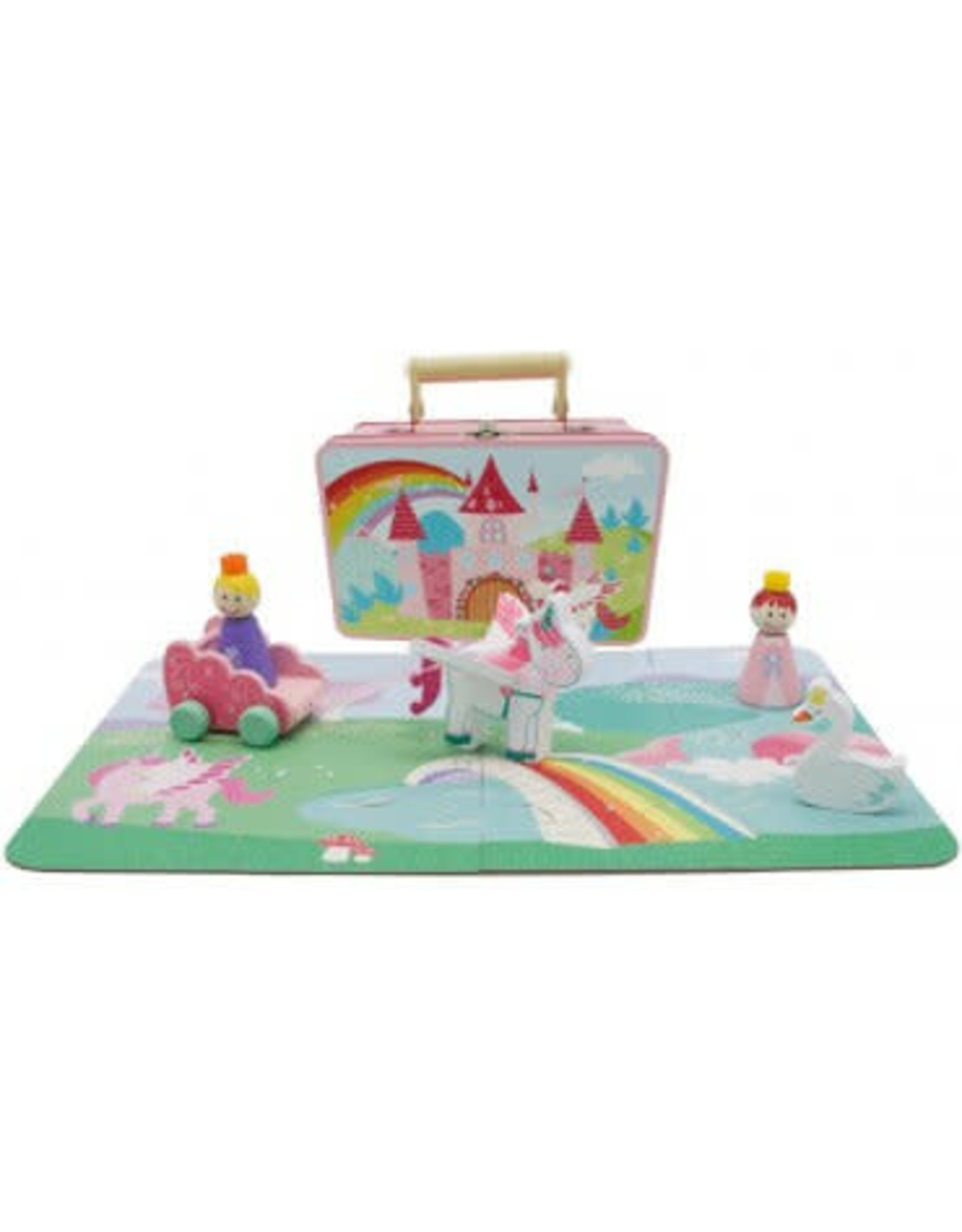 Toyslink Wooden Unicorn Playset in Tin
