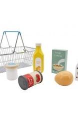 Toyslink Wooden Supermarket Basket Playset