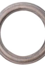Whitewash round mirror