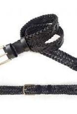 Woven Belt 25mm Black - MEDIUM 36-38inch