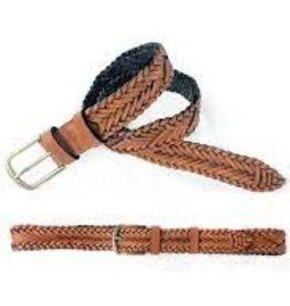 Woven Belt 25mm Tan - MEDIUM 36-38inch