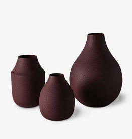 Linen and Moore Mona Trio Vases Umber