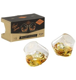 Gentlemen's Hardware Rocking Whiskey Glasses - Set of 2