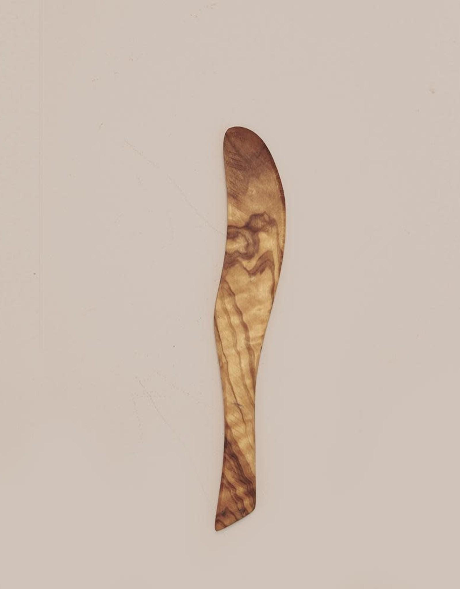 saarde Olive Rustic Board Knife & spoon Set
