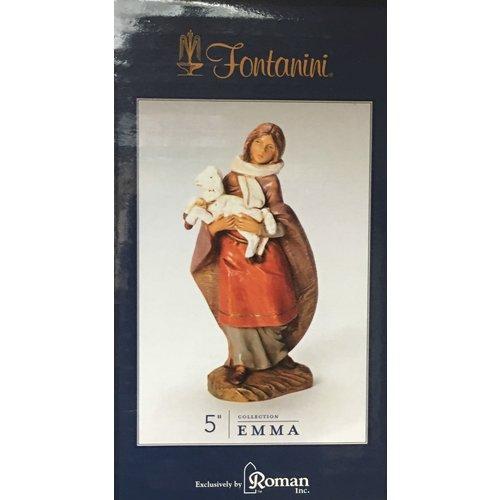 "FONTANINI EMMA SHEPHERDESS WITH LAMB 5"" FONTANINI"