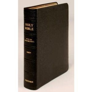 NEW REVISED STANDARD VERSION (NRSV) BIBLE WITH APOCRYPHA - POCKET EDITION IN BLACK LEATHER