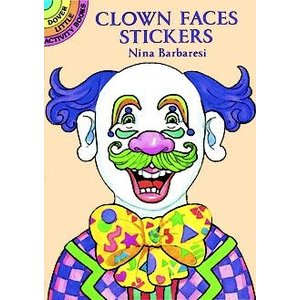 CLOWN FACES STICKERS
