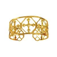 BRACELET CUFF SMALL GOLD SHIELD OF FAITH by GRACEWEAR