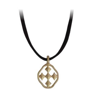 "GRACEWEAR NECKLACE HOPE LEATHER 16"" SHIELD OF FAITH by GRACEWEAR"