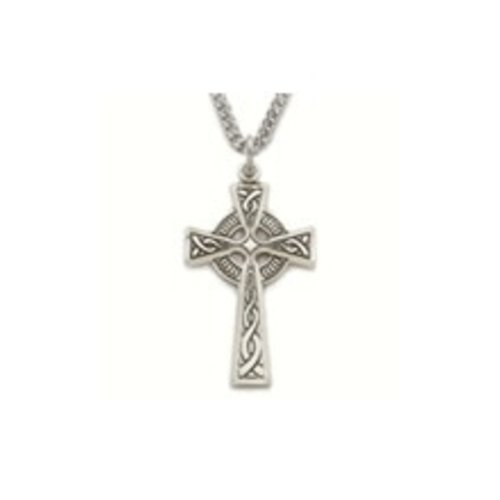 NECKLACE CELTIC CROSS, STERLING SILVER