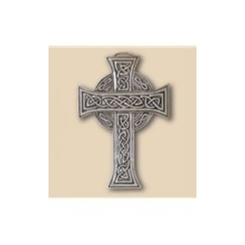 CROSS, CELTIC CROSS PEWTER WALL ORNAMENT