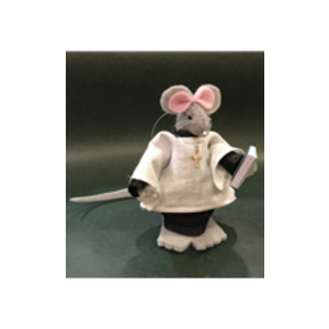 CHURCH MOUSE LECTOR HOLDING BOOK