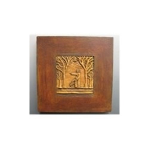 JOHN THE BAPTIST SCULPTED PLAQUE FRAMED