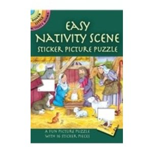EASY NATIVITY SCENE STICKER PICTURE PUZZLE