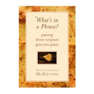 MCENTYRE, MARILYN WHATS IN A PHRASE : PAUSING WHERE SCRIPTURE GIVES YOU PAUSE by MARILYN MCENTYRE