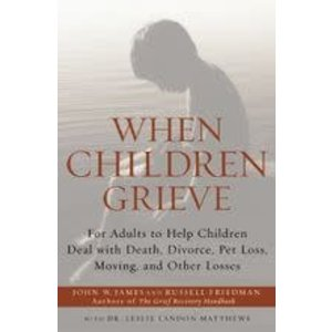 JAMES, JOHN W WHEN CHILDREN GRIEVE: FOR ADULTS TO HELP CHILDREN DEAL WITH DEATH, DIVORCE, PET LOSS, MOVING AND OTHER LOSSES by JOHN W. JAMES