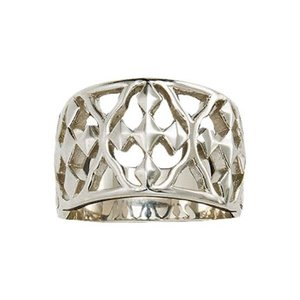 RING SZ 6 STERLING SILVER SHIELD OF FAITH by GRACEWEAR