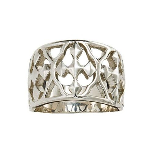 RING SZ 7 STERLING SILVER SHIELD OF FAITH by GRACEWEAR