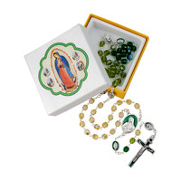 ROSARY OUR LADY OF GUADALUPE GLASS BEADS