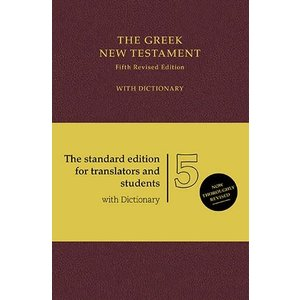 GERMAN BIBLE SOCIETY GREEK NEW TESTAMENT WITH DICTIONARY