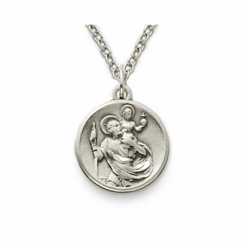 "MEDAL ST CHRISTOPHER 1/2"" ROUND"