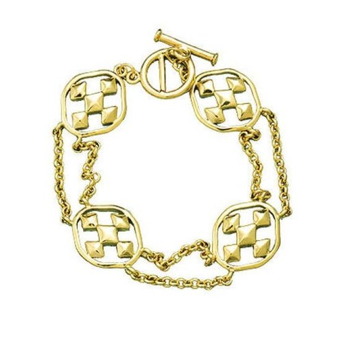 BRACELET LINKS GOLD SHIELD OF FAITH MEDALLION by GRACEWEAR