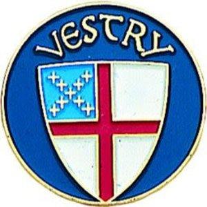VESTRY LAPEL PIN EPISCOPAL SHIELD by TERRA SANCTA