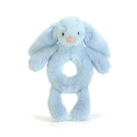 JELLYCAT BASHFUL BLUE BUNNY GRABBER RATTLE