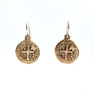 EARRINGS COINS GOLD by ERIN GRAY