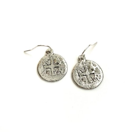 EARRINGS COINS SILVER by ERIN GRAY