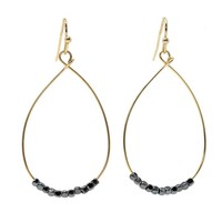 EARRINGS CATE HEMATITE by ERIN GRAY