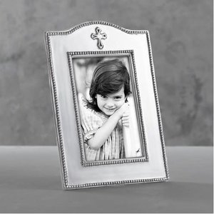 Beatriz Ball FRAME SILVER WITH CROSS 4X6 Vertical