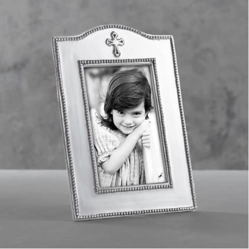 Beatriz Ball FRAME SILVER WITH CROSS 4X6