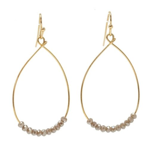 EARRINGS CATE CHAMPAGNE by ERIN GRAY