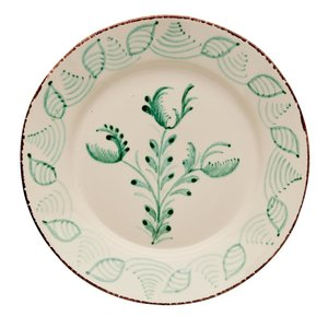 ABIGAILS DINNER PLATE GREEN 3 FLOWER S