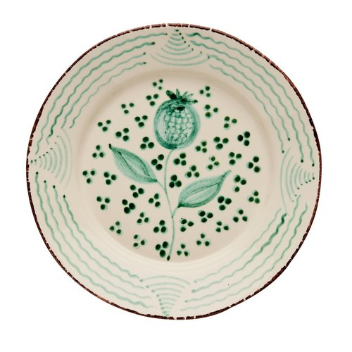 ABIGAILS DINNER PLATE GREEN POMEGRANATE