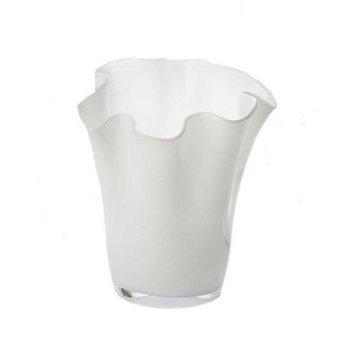 ABIGAILS VASE RUFFLE WHITE SMALL