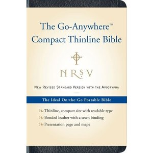 NEW REVISED STANDARD VERSION (NRSV) - GO ANYWHERE COMPACT THINLINE BIBLE WITH APOCRYPHA - NAVY, BONDED LEATHER