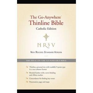 BIBLE/NRSV/GO-ANYWHERE THINLINE/CATHOLIC EDITION (BONDED LEATHER BLACK)