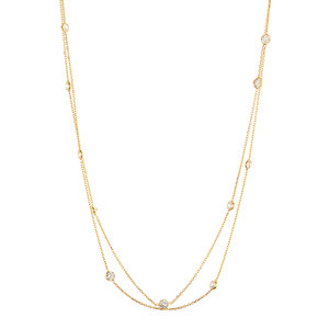 "NECKLACE LONG CZ STATION 32"" ELYSSA BASS"