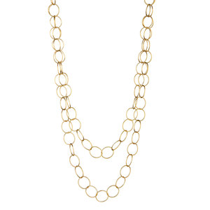 "NECKLACE ROUND & TEXTURED CHAIN 36"" ELYSSA BASS"
