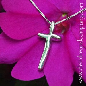NECKLACE COMPLETE IN CHRIST CROSS STERLING SILVER