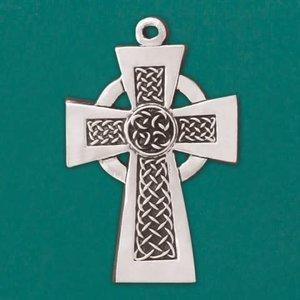 CELTIC CROSS  Pewter Ornament by Basic Spirit