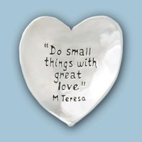 PEWTER BOWL HEART DO SMALL THINGS WITH GREAT LOVE from Basic Spirit