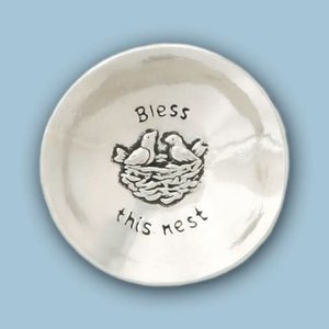 PEWTER BOWL BLESS THIS NEST from Basic Spirit