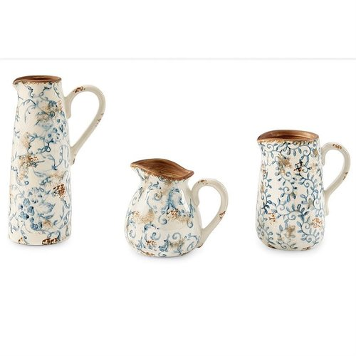 PITCHER BLUE FLORAL by MUD PIE -