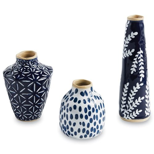 INDIGO BUD VASE by MUD PIE -