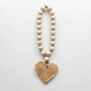 BLESSING BEAD CHUNKY TURQ HEART OR CROSS